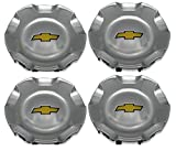 4X Brand NEW Four Pcs Set For CHEVROLET Chevy Polished Wheel Center Hub Caps 2007-2013 Silverado 2007-2013 Chevrolet Avalanche 2007-2013 Tahoe 2007-2013Suburban 9595152 US Fast Shipment