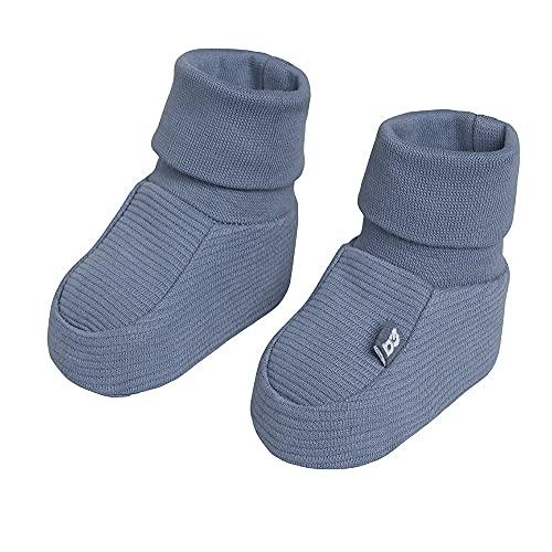 BO Baby's Only - Pure Booties - Baby-Schuhe - Für Mädchen und Jungen - 100% Biologische Baumwolle - Vintage Blue