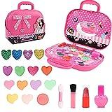 Yuccer Maquillaje Niñas Set Juguete Maquillaje Infantil Lavable Lápiz Labial Esmalte Uñas para Regalos Cumpleaños Navidad (color)
