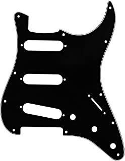 IKN 3 Ply Electric Guitar Pickguard Scratch Plate SSS for FD Strat ST Style Guitar Black/White/Black