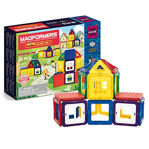 Magformers 705007 Wow House Magnetbau-Set 28-teilig
