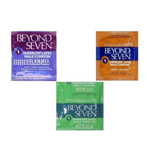 Okamoto Beyond Seven Condom Sampler Pack, 72-Count