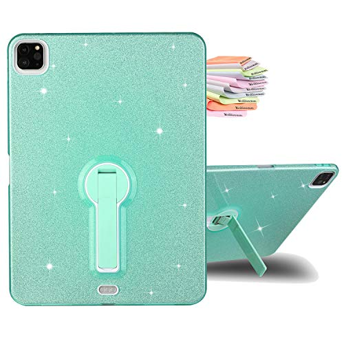 Billionn Case for New iPad Air 4th Generation 2020 / iPad Air 4 10.9 Inch 2020 Case, Glitter Bling Slim Lightweight Stand Back Cover Protective Case for Women/Girls, Green
