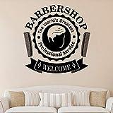 WERWN Barbería Pared calcomanía Servicio Profesional Puert