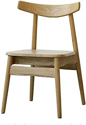 Horn Chair Solid Wood Dining Chair Restaurant Chair Home Leisure Designer Chair Meal (Color : A)
