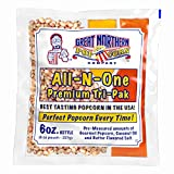 4067 Great Northern Popcorn 1 Case (12) of 6 Ounce Popcorn Portion Packs Kit Cinema