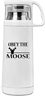 Obey The Moose Stainless Steel Insulated With Lid Cup Vacuum Cup