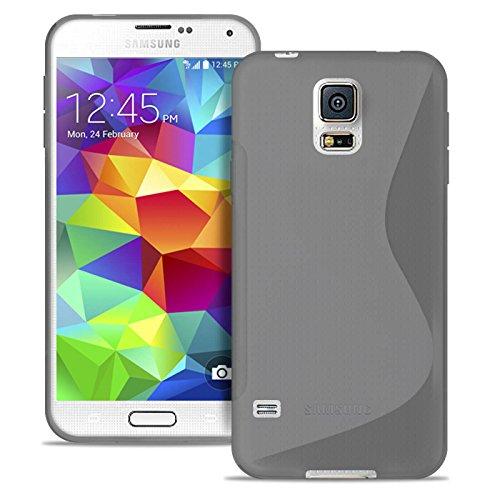 United Case Custodia Ultra Sottile per Samsung Galaxy S5 Mini | in Grigio Trasparente |