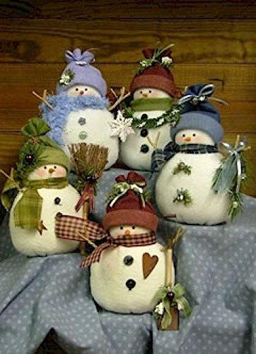 Countryside Crafts Einfaches Schnittmuster mit Schneemännern