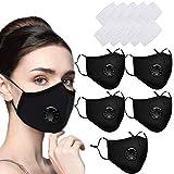 5 x Máscaras faciales reutilizables Máscara de polvo lavable del Reino Unido...