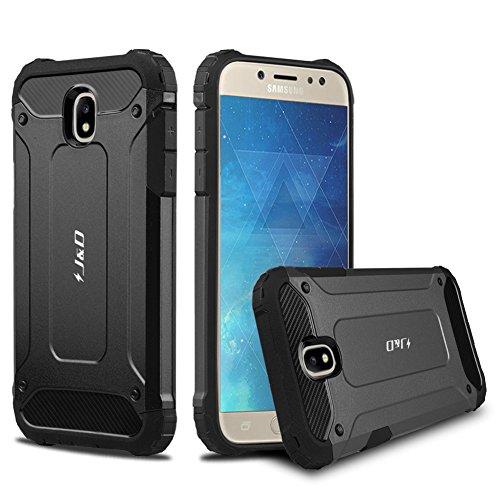 J&D Compatibile per Cover Galaxy J5 2017, [Protezione Robusta] [Armatura Sottile] Ibrida Antiurta Protettiva aspra Custodia per Samsung Galaxy J5 (Release in 2017) - [Non per J5 2016] - Nero