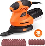 Detail Sander Advanced 360° Rotatable Sanding Pad, Finger Pad...