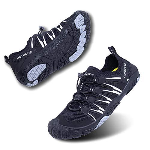 Zapatillas Minimalista Hombre Mujer de Trail Running Escarpines Zapatos de Agua Secado Rápido Deportes Antideslizante Unisexo Negro Azul Gris Rosa Tamaño Reino Unido 35-47