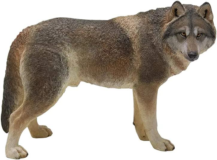 SY-Home Outdoor Animal Wolf Statue Sculpture, Simulation Wolf Decoration Animal Jewelry Crafts Model Furniture Outdoor Statue Decoration 7.22.35.7In