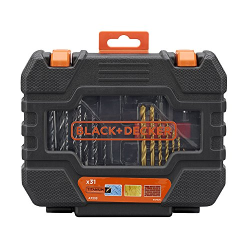 BLACK+DECKER A7233-XJ 31 Piece Drill Set - Black, 1 Piece