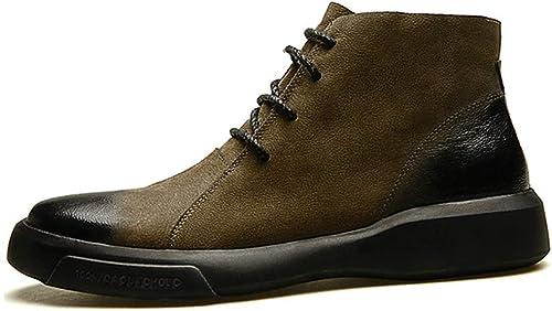 Martin Stiefel, Herren Stiefelette im Herbst und Winter Flut - Retro Stiefel in der Mitte - Werkzeug Schuhe