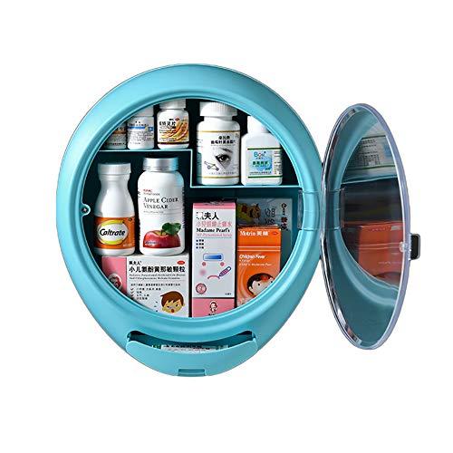Botiquín de medicina portátil de pared para el hogar multifuncional con compartimentos separados caja de almacenamiento de medicina caja de almacenamiento 03