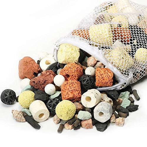 Gaosheng 1 Beutel Aquarium Bio Balls Filter Aquarium Teich Keramikringe Filtermedien 500g Bio Balls für Aquarium oder Mini-Riff Aquarium