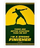 LAB NO 4 Strong Finisher Usain Bolt Sport Quotes Poster