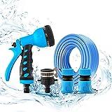 A/S Pulverizador de tubería de Agua de 1/2'de Alta presión con 7 Patrones Ajustables for Plantas de riego JXHOME (Size : 5m Water Pipe Set)