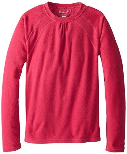 Terramar Micro Polyester Polaire pour Fille Crew Top, Fille, Rose