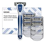 Marca Amazon- Solimo Maquinilla de afeitar de triple hoja pa