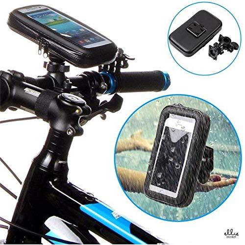 Ellie Soporte Universal para móvil Bicicleta y Moto, Soporte teléfono Impermeable Universal para con Protección para Smartphone, Profesional a Prueba de Agua de 360 Grados