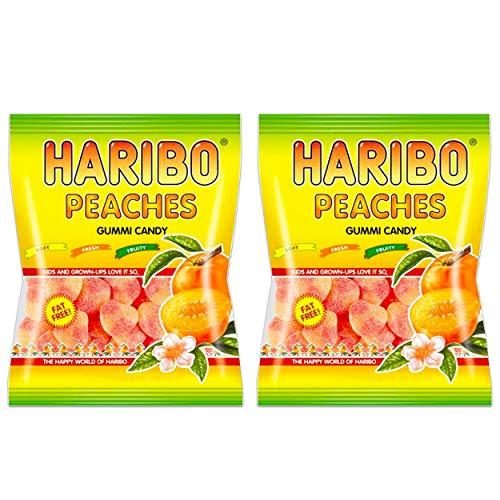 Haribo Peaches Gummi Candy 4 oz bag 2 bags 8 oz total