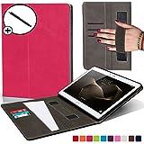 Forefront Cases Huawei MediaPad M2 10.0 Hülle Schutzhülle Tasche Smart Case Cover Stand mit Handschlaufe - Extra Robust R&um-Geräteschutz - Smart Auto Schlaf Wach Funktion + Stift (DUNKEL ROSA)