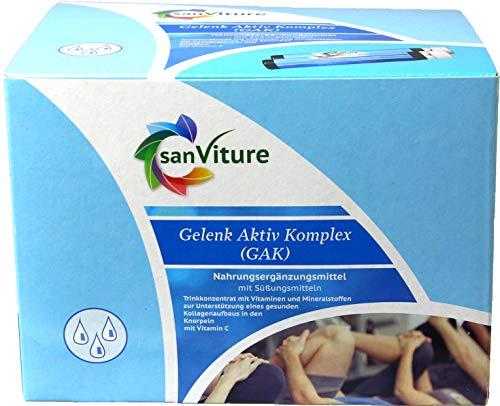 SanViture Gelenk Aktiv Komplex, Kollagen Drink, Chondroitin 30 Collagen Ampullen, 8g