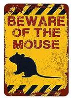 アメリカ雑貨 アメリカン雑貨 英語版 動物注意 ブリキ看板 警告コーギー 金属板 注意サイン情報 サイン金属 安全サイン 警告サイン 表示パネル (MOUSE)