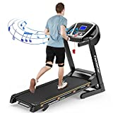 Famistar 9028S 15% Auto Incline Treadmill, Smart Shock-Absorbing Running Machine with 300 lb Capacity, 12 Programs Easy Assembly&Space Saving for Home Office Workout