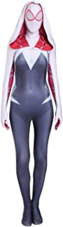 AMOCO Female Spider Lycra Spandex Gwen Cosplay Costumes Halloween Gwen Suit Adults/Kids 3D Style Black/White