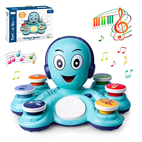 CYURMJUN Baby Musical Toys Learning Toys for Toddlers, Octopus Music Toys, Preschooler Musical Educational Instruments Toy for Baby, Birthday Gift for Boys/Girls
