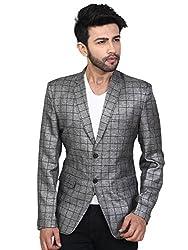 A.B.C. Garments Cotton Slim Fit Checks Printed Casual Blazer for Mans