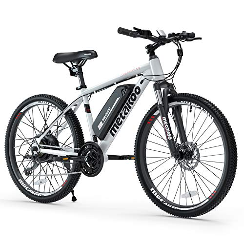 METAKOO 26' Electric Mountain Bike, 3 Hours Fast Charge 36V/10.4Ah Removable Lithium-Ion Battery, BAFANG 350W Brushless Motor, Electric Commuter Bicycle with Suspension Fork (Cybertrack 100)
