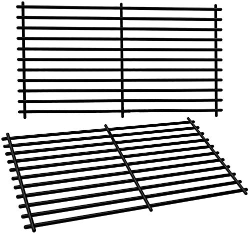 SHINESTAR Cooking Grates for Chargriller 2001, 2020, Jenn-Air JA460, JA480, Vermont Castings CF9030, CF9050, VM400, Backyard Grill BY16-101-002-06, GBC1490W-C, Porcelain Steel Grill Grates