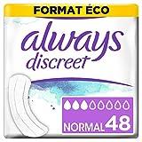 Always Discreet 0% asciugamani per incontinenza, perdite urinarie, formato Eco x48, varie misure, assorbenti