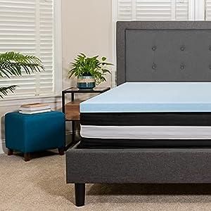 Flash Furniture Capri Comfortable Sleep Full 10 Inch CertiPUR-US Certified Foam Pocket Spring Mattress & 2 inch Gel Memory Foam Topper Bundle