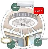 Moderne Deckenventilator mit Beleuchtung, Fernbedienung, Dimmbar LED Deckenleuchte Einstellbar Fan Leise Deckenventilator Wohnzimmer Schlafzimmer Kinderzimmer Deckenlampe, Ø58cm, 40W