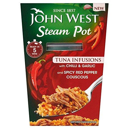 John West Piatto Di Tonno A Vapore Con Peperoncino E Aglio E Couscous (150g) (Confezione da 6)