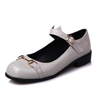 BalaMasa Womens APL11837 Pu Mary Jane Heels