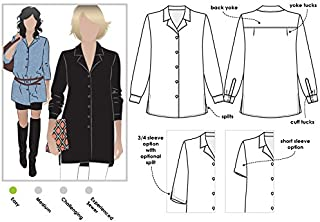 Style Arc Sewing Pattern - Jane Over Shirt (Sizes 04-16) - Click for Other Sizes Available
