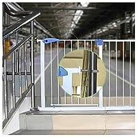 ZEMIN ウォークスルー バリア ベビー ゲート ペット 安全扉 圧入 孤立 保護 自動リバウンド 余暇 解放 手、 H 76CM (Color : H 76CM, Size : W 115-122CM)