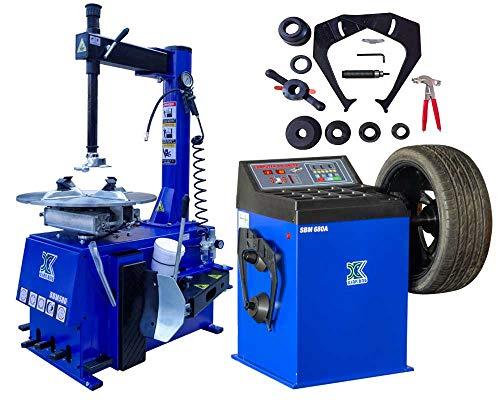 XK USA INC. New 1.5HP Tire Changer Wheel Changers Machine Combo Balancer Rim Clamp 560-680/12 Month Warranty