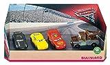 Bullyland 12167 - Spielfigurenset, Disney Pixar Cars 3 in Geschenk Box, liebevoll handbemalte Figuren, PVC-frei, tolles Geschenk für Jungen und Mädchen zum fantasievollen Spielen