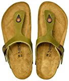AEROTHOTIC - Comfortable and Arch Support Strappy Footbed Leather Sandals for Women (Eos Green, numeric_10)