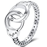 Jude Jewelers Stainless Steel Handcuff Infinity Promise Ring Wedding Engagement Statement Propose (Retro Silver, 7)