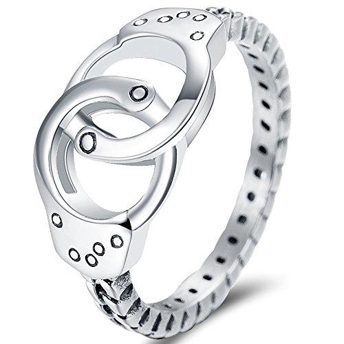 Jude Jewelers Anillo infinito de compromiso de acero inoxidable para boda