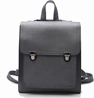 Fashion Cute Mini Leather Square Backpack Fashion Small Daypacks Purse for Teen Girls and Women (Color : Gray, Size : 29 * 9 * 32cm)